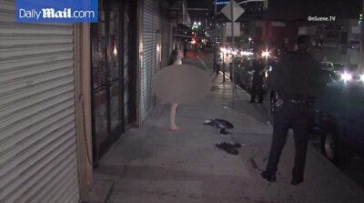 洛杉矶女子与警飙车数小时 一丝不挂被捕-美国精品资讯